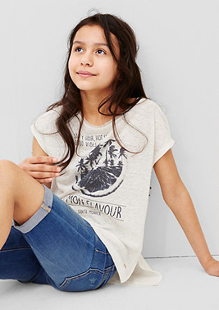 Print-Shirt mit Nieten-Detail