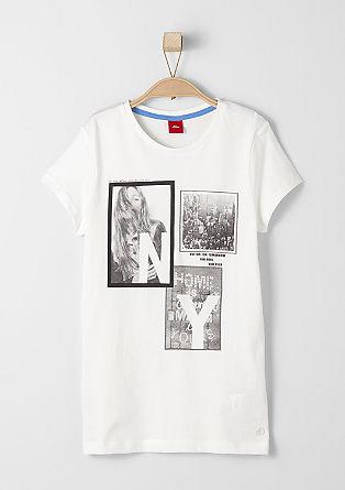 T-Shirt mit Fotoprint-Collage