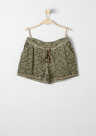 Shorts with an animal print from s.Oliver