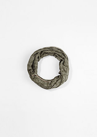 Patterned jersey snood from s.Oliver