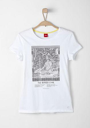 Shirt mit glänzendem Fotoprint