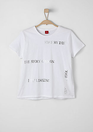 Statement-Shirt mit Metallic-Print