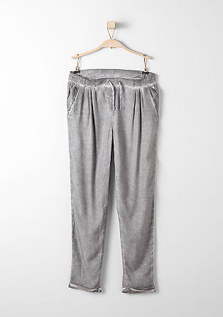 Ankle-length trousers with a spray dye effect from s.Oliver