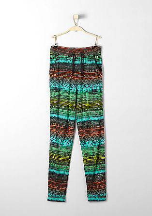 Tracksuit bottoms with a printed pattern from s.Oliver