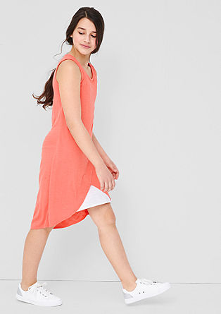 Jersey dress in a layered look from s.Oliver