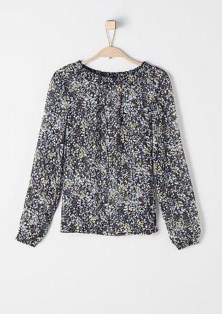 Bluza iz šifona s cvetličnim vzorcem