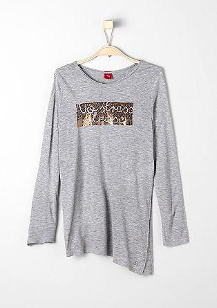 Asymmetrisch shirt met print