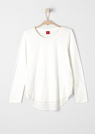 Fine long sleeve crêpe top from s.Oliver