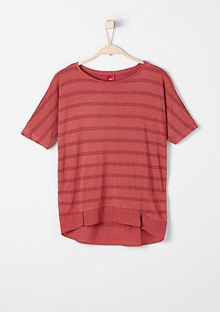 Shirt mit Glitzer-Ringeln