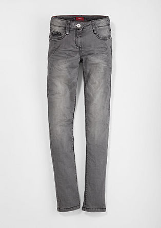 Skinny Suri: grey stretch jeans from s.Oliver