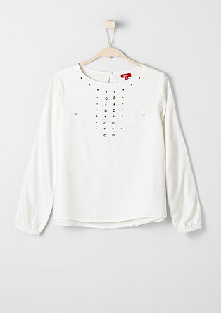 Double-layer blouse with studs from s.Oliver