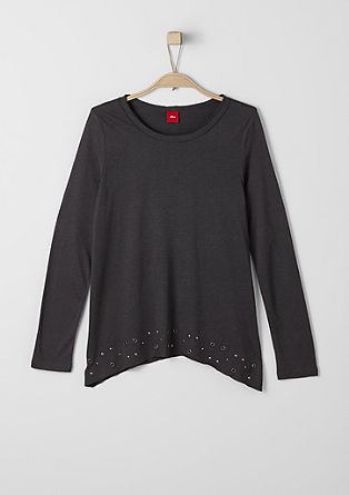 Casual long sleeve top with studs from s.Oliver