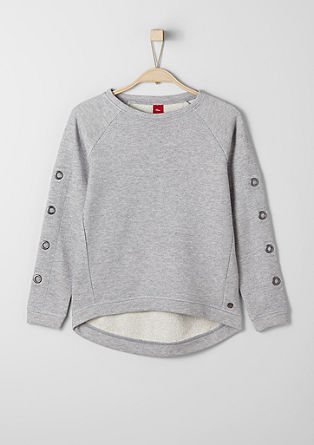 Glitter sweatshirt with studs from s.Oliver
