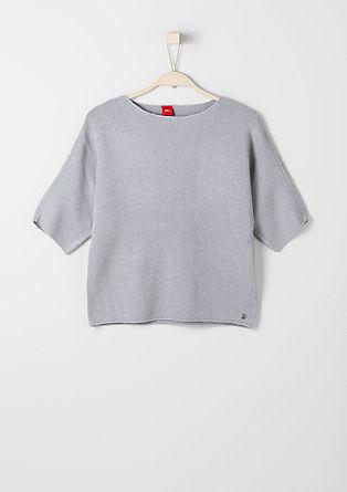 Fledermaus-Pullover aus Piqué