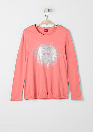 Long sleeve top with a glittery colour from s.Oliver