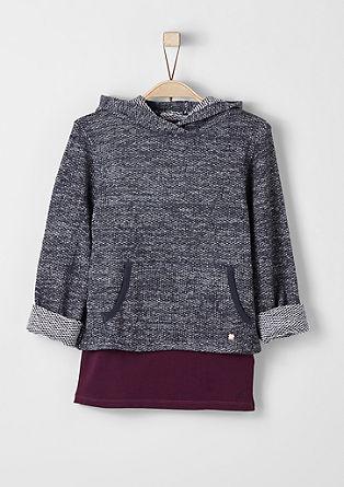 2-in-1-Sweatshirt mit Top