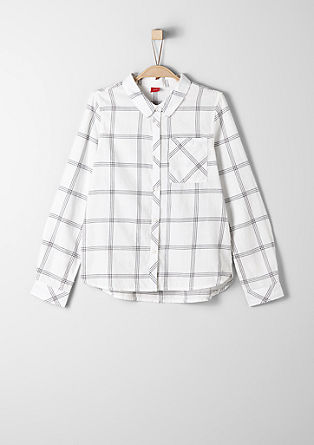 Check blouse made of fine flannel from s.Oliver