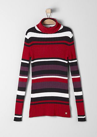 Chunky ribbed polo neck  from s.Oliver