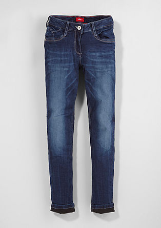 Suri Slim: Warme Stretch-Jeans