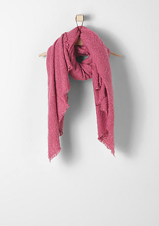 Cosy bouclé scarf from s.Oliver