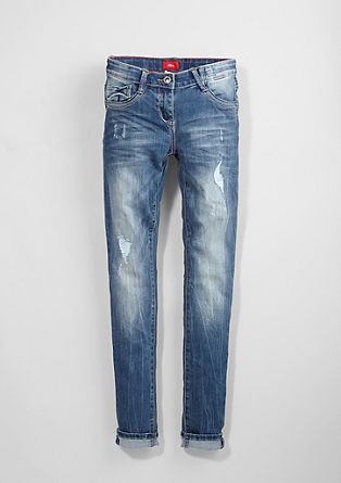 Skinny Suri: Destroyed Stretch-Jeans