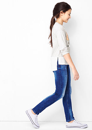 Embroidered long sleeve T-shirt in a layered look from s.Oliver