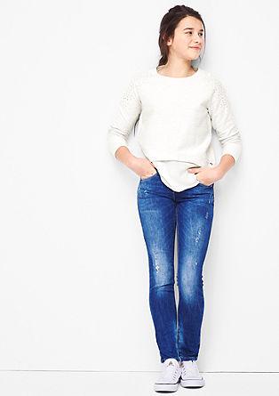 Blusen-Sweatshirt mit Nieten