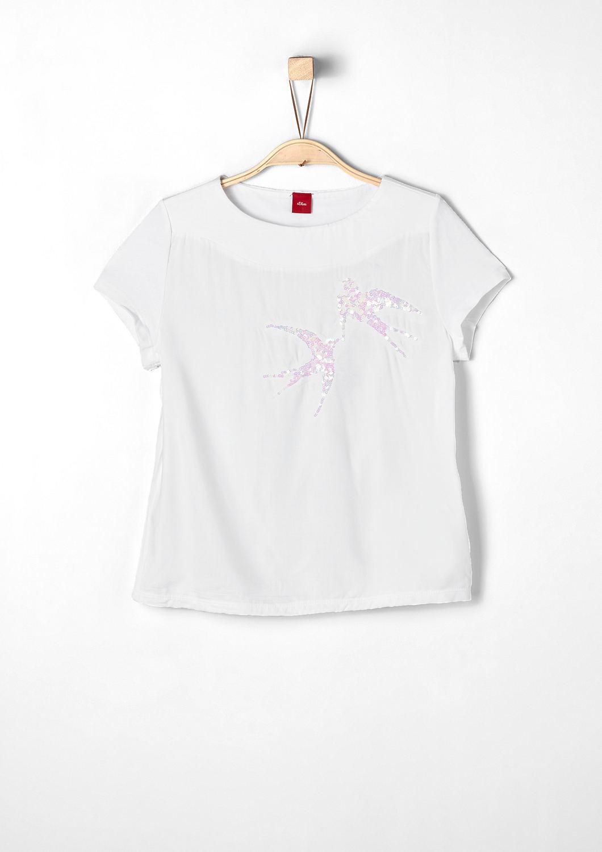 buy t shirt with reversible sequins s oliver shop. Black Bedroom Furniture Sets. Home Design Ideas