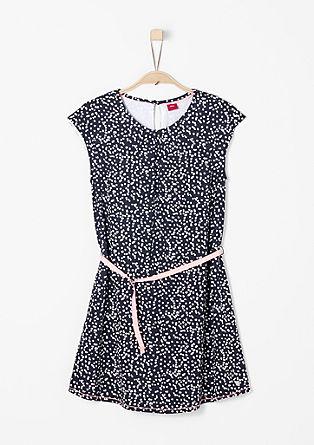 Luftiges Kleid mit Allover-Muster