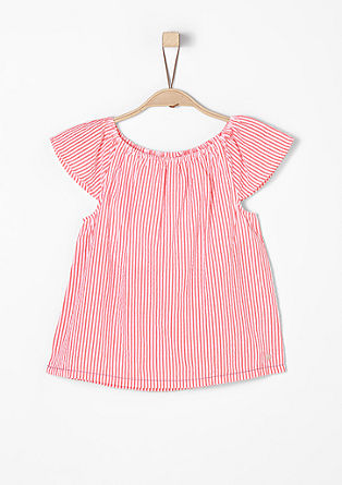 Short sleeve cotton blouse from s.Oliver