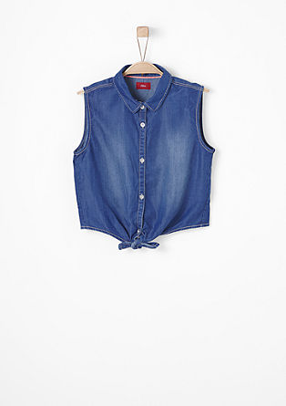Sleeveless denim blouse from s.Oliver