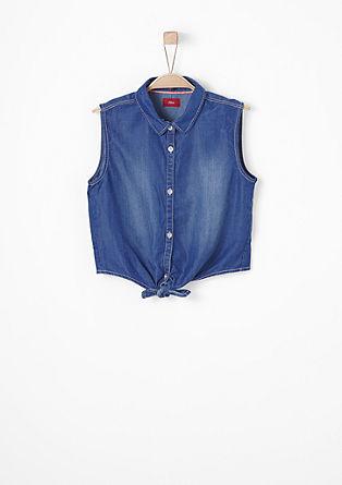 Bluza brez rokavov iz jeansa