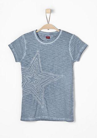 Garment Dye-Shirt mit Applikation