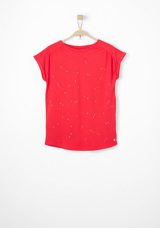 T-shirt with glittering stones from s.Oliver