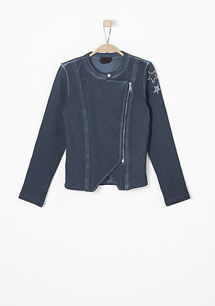 Zip-up sweatshirt with glitter stones from s.Oliver