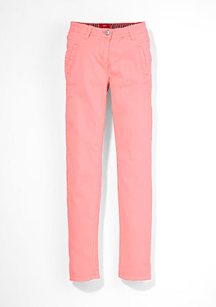 Suri: Twill trousers in a neon colour from s.Oliver