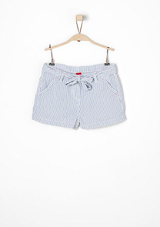 Seersucker shorts with stripes from s.Oliver