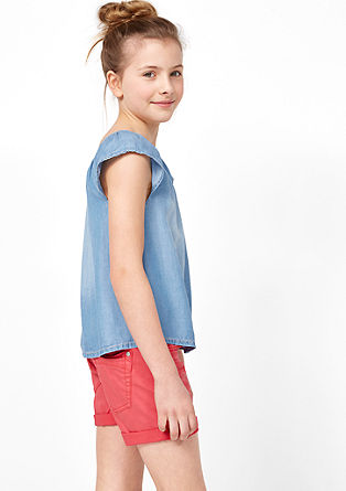Off-shoulder-blouse van denim