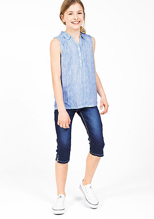 Striped sleeveless blouse from s.Oliver