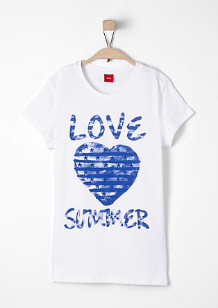 Cotton T-shirt with a print from s.Oliver
