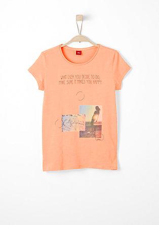 T-shirt met romantische print