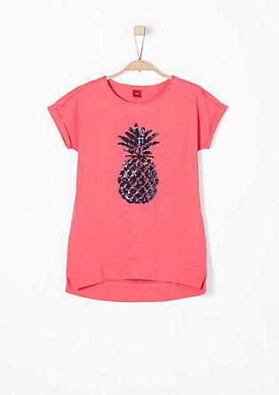 T-Shirt mit Pailletten-Ananas