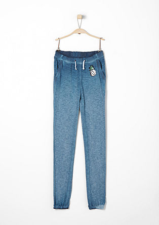 Casual slub yarn tracksuit bottoms from s.Oliver