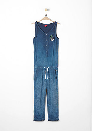 Casual slub yarn jumpsuit from s.Oliver