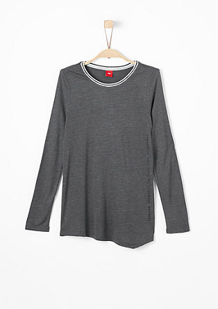 Long sleeve top with a contrasting neck trim from s.Oliver