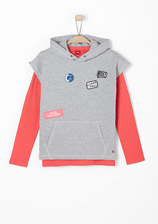 2-in-1-Sweatshirt mit Patches