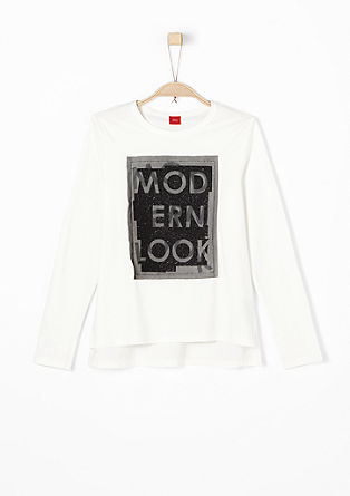 Long sleeve top with glitter artwork from s.Oliver