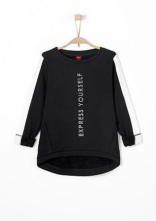 Sweatshirt im Glanz-Print