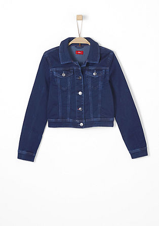 Stretchige Denim-Jacke
