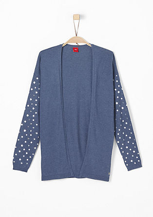 Soft cardigan with star-patterned sleeves from s.Oliver